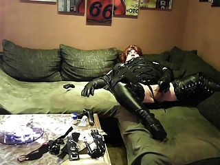 Micha Dwt 6 -  Black High Heels Boots & Cum Drinking