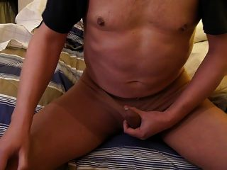Sitting Pantyhose Jerk Off. Not A Lot Of Cum. Felt Gooooood.