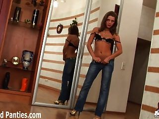 Petite Teen Missy Masturbating In Tight Blue Jeans