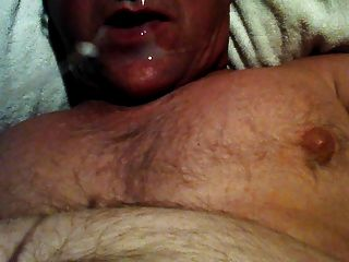 Large Self Facial And Cum Eating