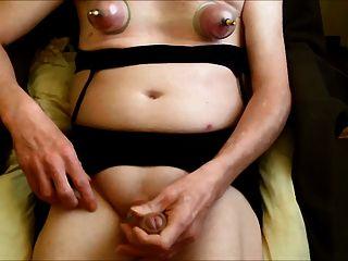 Nipple Pumpng And Cumshot