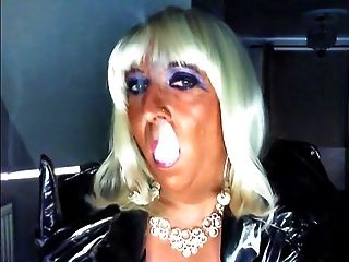 Chrissie Smoking On Her Bithday