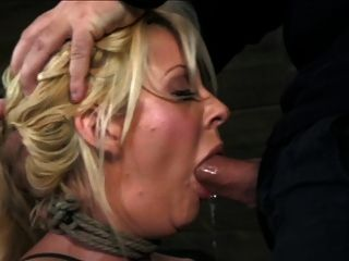 Big Titted Blonde Tied And Fucked