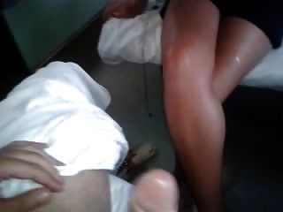 Handjobs In Train And Cum