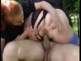 Two Horny French Grannies Pleasing A Dude