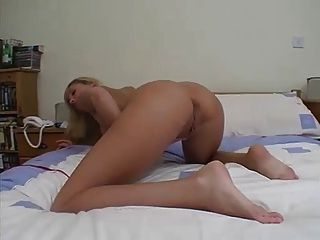 Busty Blonde Housewife Plays With Her Dildo