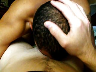 Blk Cums While Swallowing White Cum