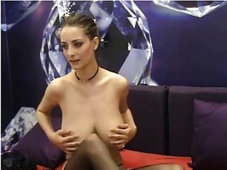 Brunette Shows Her Massive Titties