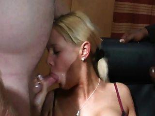 Hot Blonde Sweety Love Bukkake
