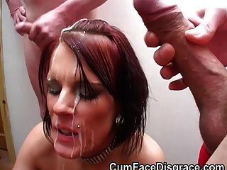 British Skank Taking Amateur Facials