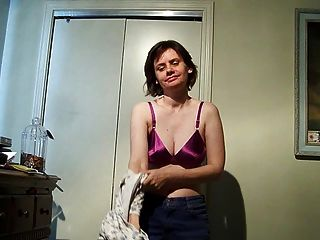 Stripping And Dropping To Her Knees To Suck His Cock