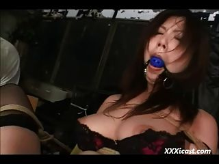 Asian Tied And Toyed In Stockings