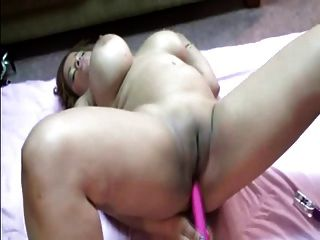 Thick Latina Plays With Her Dildo