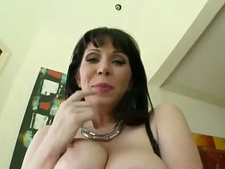 Brunette Cougar Sucks Big Black Cock