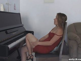 Red Dress On Sexy Teenager