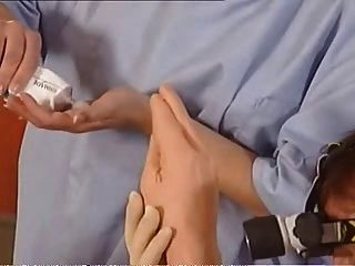 German Porn - Weird Foursome To The Gyno Doctor