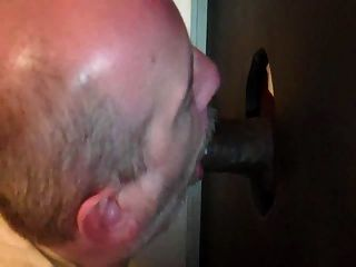 Sucking Black Cock At The Hole