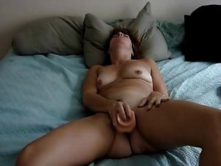 Mature Milf Cumming On A Dildo