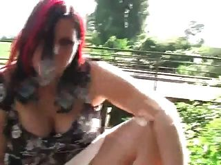 Chubby Ex Girlfriend Playing With Her Pussy Outdoors
