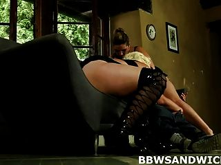 Bbw Threesome Femdom Sex With Bbw Mistresses Monika And Mira