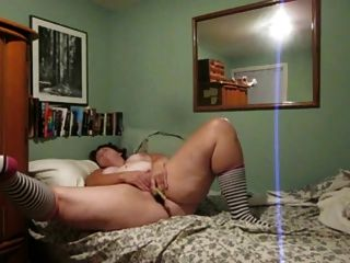 Horny Fat Bbw Friend Masturbating And Cumming With A Banana
