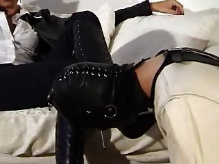 Boot Worship In Straight Jacket