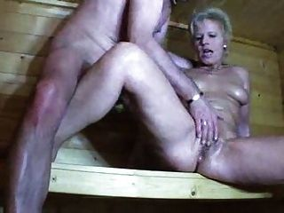 Mature In Sauna