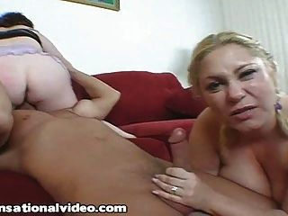 2 Bbw Milfs Fuck College Student From Next Door