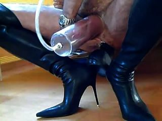 Man With Thigh Boots & Dildo