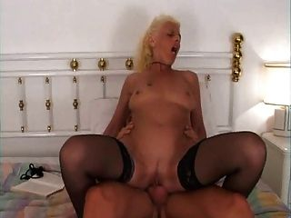 Blonde Granny Bed Fucking