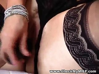 Sexy Bbw Milf In Black Stockings Playing With Toy