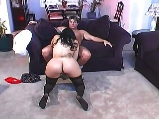 Brunette Milf And Two Huge Cocks...usb
