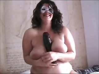 Beautiful Bbw Riding A Big Dildo