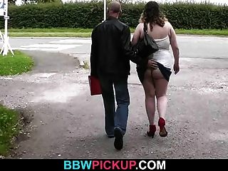Fat Chick Is Picked Up For Some Cock Riding