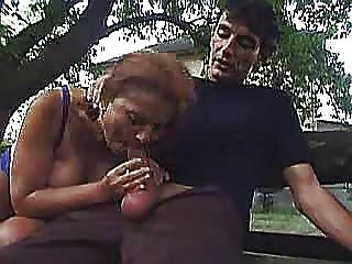 Old Slut Fuck Outdoors