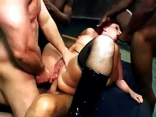 Horny Readhead Milf Gangbanged For 10 Cocks