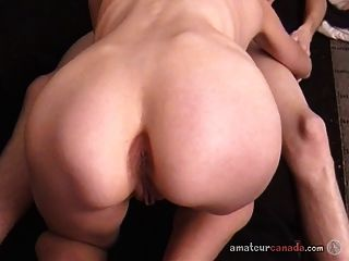 Slim Girl Takes Huge Dick Inside Her And Blowjob For Her Bf