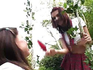 Schoolgirls Take It In Their Super Tight Ass