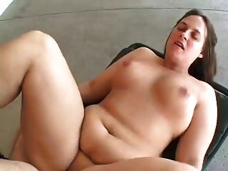 Chubby Mature In Front Of House
