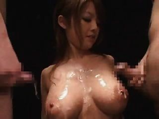 Cute Japanese Gets Facial Cumshots And Gangbanged