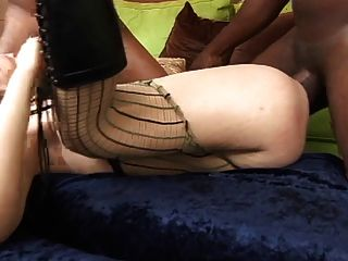 Hot Thin White Slut Loves To Get Double Penetrated By 2 Black Cocks