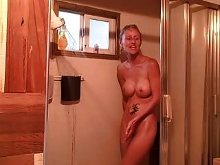 Amateur Couple Having Fun In The Shower (no Sex Though)!