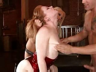 Redhead  Fucked By Couple