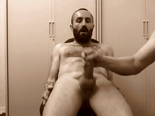 Bearded Man Getting His Cock Wanked