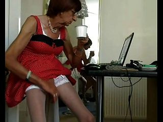 Mature Cd With An Amazingly Long Cock.