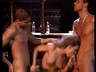 Nice Young Girl Fucked By Three Guys-double Penetration !!