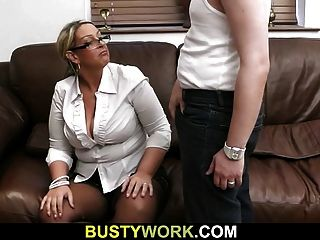 Busty Chick Gets Her Fat Hole Licked And Fucked