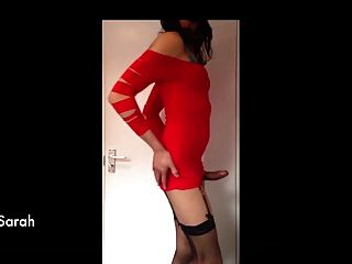 Cum In Red Dress