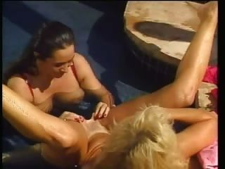 Blonde And Brunette White Women With Black Man - Interracial