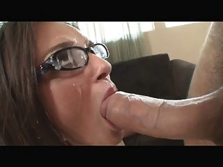 Facials On Three Sexy Girls With Glasses
